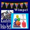 Geburtstagsdeko-Set 2, zum 18. Geburtstag