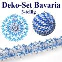 Deko-Set Bavaria, Dekoration, Blau-Weiß, Bayrische Rauten, 3-teilig