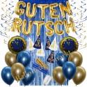 Silvesterdeko-Set mit Luftballons Guten Rutsch Blue & Gold, 33-teilig