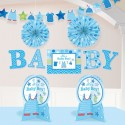 Dekorations-Set Shower with Love Boy, Dekoration zur Babyparty Junge