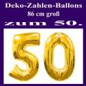 "Goldene Hochzeit Folienballon-Deko ""50"" inkl. Ballongas"