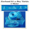 Deko-Zierband It's a Boy, 1 Meter, Junge