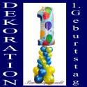 Geburtstagsdekoration aus Luftballons zum 1. Geburtstag (Inklusive Helium)