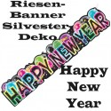 Silvester Dekoration, Riesenbanner, Happy New Year