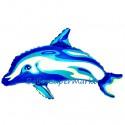 Delfin Luftballon ohne Helium, blau
