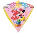 Diamondz Luftballon aus Folie mit Helium, Minnie Mouse, 3. Geburtstag, Bunt, Mädchen