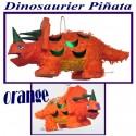 Pinata Dinosaurier, orange