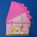 Disney Princess, Einladungskarten zum Kindergeburtstag, 4 Stück