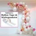 Wilde Ballongirlande Gold/Pink 3,50 Meter, Do it yourself-Set