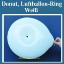 Donut, Ringballon, Weiß