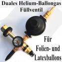 Duales Ballongas-Helium Auffüllventil für Folienballons und Latexballons