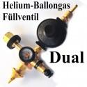 Duales Ballongas-Helium Auffüllventil für Luftballons und Folienballons