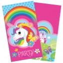 Einhorn, Einladungskarten zum Kindergeburtstag, 8 Stück
