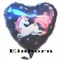 Einhorn Herz (ungefüllt)