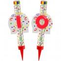 Eisfontänen Zahl 10, Dekoration zum 10. Geburtstag und Jubiläum