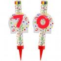 Eisfontänen Zahl 70, Dekoration zum 70. Geburtstag und Jubiläum