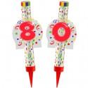 Eisfontänen Zahl 80, Dekoration zum 80. Geburtstag und Jubiläum