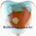 Luftballon Elliot Buttons Love, Folienballon mit Ballongas