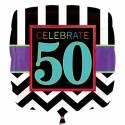 Luftballon aus Folie zum 50.Geburtstag, Celebrate 50