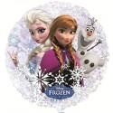 Elsa und Anna, Eiskönigin, Frozen, holografischer Folien-Luftballon, transparent, ohne Helium