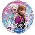 Anna und Elsa Luftballon, Frozen Eiskönigin, holografischer Folienballon mit Ballongas