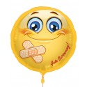 Gute Besserung, Luftballon aus Folie mit Helium-Ballongas, Ballongrüße