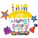 Happy Birthday, Cupcake Star, Cluster Folienballon mit Helium zum Geburtstag