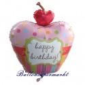 Happy Birthday, Cupcake-Folienballon, Shape, ohne Helium zum Geburtstag