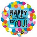Happy Birthday to You, großer Folienballon, Rundballon, ohne Helium zum Geburtstag