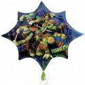 Luftballon Ninja Turtles, Folienballon ohne Ballongas
