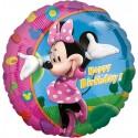 Minnie Maus, Luftballon, Happy Birthday, Folienballon mit Ballongas