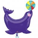 Luftballon Zirkus Seehund, Folienballon ohne Ballongas