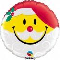 Weihnachts-Ballon Smiley Santa, Luftballons zu Weihnachten mit Helium