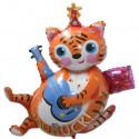 You Rock Folienballon, Tiger mit Gitarre, Shape (ohne Helium)
