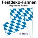 Bavaria Fahnen, 10 Stück, Bayrische Wochen Dekoration