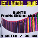 Fest- und Party-Dekoration, bunte Fransengirlande