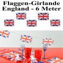 Flaggenbanner Girlande England, 6 Meter