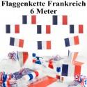 Flaggenbanner Girlande Frankreich, 6 Meter