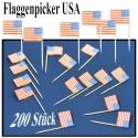 Flaggenpicker USA, 200 Stück
