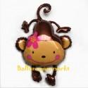 Luftballon Affe, Monkey Love, Folienballon mit Ballongas