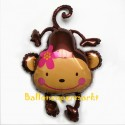 Luftballon Affe, Monkey Love, Folienballon ohne Ballongas