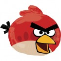 Luftballon Angry Birds Red, Folienballon ohne Ballongas