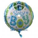 Luftballon zu Geburt, Taufe, Babyparty, Baby Boy, Ballon mit Ballongas Helium