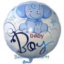 Luftballon zu Geburt, Taufe, Babyparty, Baby Boy Baby-Elefant, Ballon mit Ballongas Helium