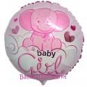 Luftballon zu Geburt, Taufe, Babyparty, Baby Girl Baby-Elefant, Ballon mit Ballongas Helium