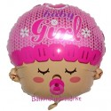 Luftballon zu Geburt und Taufe eines Mädchens, Baby Girl Head, ohne Ballongas Helium