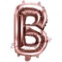 Buchstaben-Luftballon aus Folie, B, Rosegold, 35 cm