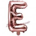 Buchstaben-Luftballon aus Folie, E, Rosegold, 35 cm