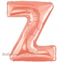 Buchstaben-Luftballon aus Folie, Z, Rosegold, 100 cm groß inklusive Helium