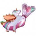 Einhorn mit Flügeln Luftballon ohne Helium, Unicorn
